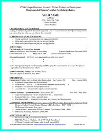 Sample Resume For Internship In Accounting by Current College Student Resume Is Designed For Fresh Graduate