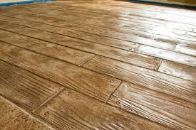 Installing Hardwood Floors On Concrete Looks Like A Hardwood Floor But Is Really Stamped Concrete Diy
