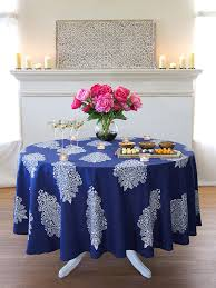 navy blue tablecloth white paisley tablecloth 70 90