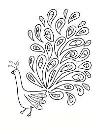 printable peacock coloring pages coloring me