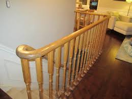 Stair Railings And Banisters Remodelaholic Updating An Oak Stair Or Handrail To White And Walnut