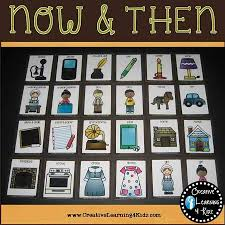 now then past present sorting matching flashcard bundle
