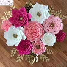 decoration flowers fengrise 2pcs 20cm diy paper flowers backdrop decorative