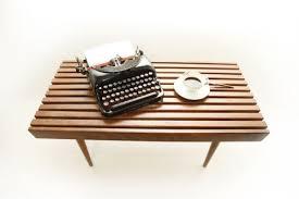 Slat Bench Coffee Table Mid Century Modern Slat Bench Coffee Table In Bushwick Kings