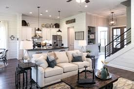 regency homebuilders great room farmhouse style scraped