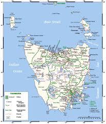 Australian States Map by Tasmania Map Tasmania State Map Of Australia Tasmania Road Map