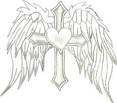 hearts with wings coloring pages az coloring pages clip art