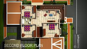 Free 3d Floor Plan Second Floor Plan Of Proposed Two Story Residential Building Plan2