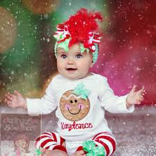 Baby Girl Christmas Outfit  Gingerbread from DarlingLittleBowSho