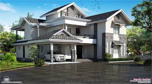 house plans with attic modern sloping roof house villa design kerala home design and