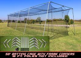 diy batting cage kit you get the poles at a local home store and