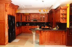 Rustic Pine Kitchen Cabinets by Elegant Style Kitchen With Rustic Pine Panda Kitchen Cabinets