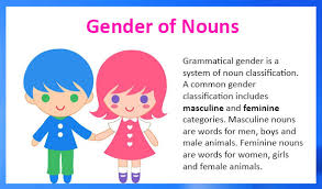 masculine and feminine gender of nouns free lessons and worksheets