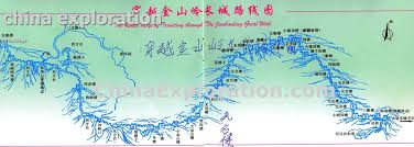 Map Of The Great Wall Of China by China Tours China Exploration Adventure And Travel Service