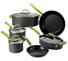 Cuisinart Dishwasher Safe Anodized Cookware Rachael Ray 10 Piece Hard Anodized Dishwasher Safe Cookware Set