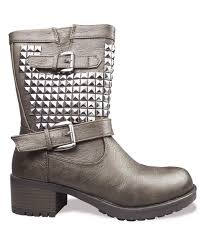buckle biker boots rebel vegan studded buckle biker boots