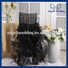 cheap black chair covers ch007b cheap wholesale universal fancy hot sale frilly curly
