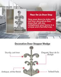 amazon com fleur de lis cast iron door stop decorative door
