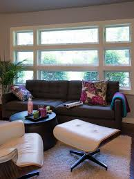 Sofa Pillows Contemporary by Photos Hgtv Contemporary Living Room With Stacked Windows Floral