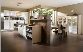 furniture kitchen island design with attached table bar stools