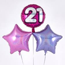 inflated balloon delivery pink 21st birthday balloon bouquet inflated free delivery