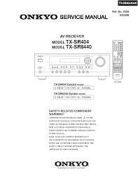 download free pdf for onkyo tx sr404 receiver manual