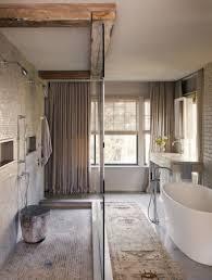 Rustic Modern Bathroom Rustic Modern Bathroom Freestanding Tub Reclaimed Beams Bathroom