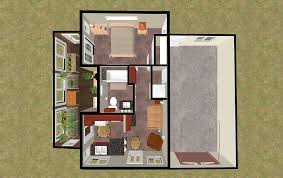 Drawing Of A House With Garage Cozyhomeplans Com 424 Sq Ft Small House