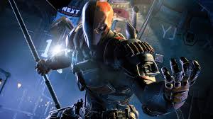 batman arkham knight deathstroke armor cosplay costume pu leather