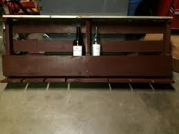 Barn Board Wine Rack Pallet Wine Rack 9 Steps With Pictures