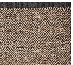 Zig Zag Outdoor Rug Cooper Zig Zag Natural Fiber Rug Black Pottery Barn