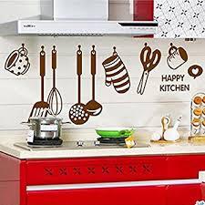 stickers pour cuisine d馗oration amovible stickers muraux mur autocollant ustensile pour cuisine