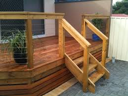 Corner Deck Stairs Design Decks Build Deck Stairs Make Stair Stringer 2 Step Riser
