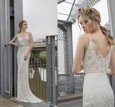 retro wedding dresses 2017 limor retro lace wedding dresses spaghetti v neck