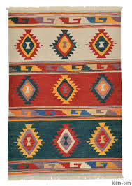 Modern Kilim Rugs K0005931 Multicolor New Turkish Kilim Rug