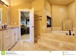 Bathroom Bath Bathroom With Bath Tub And Fireplace Stock Photo Image 42252268