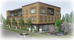 developer plans high end apartments office tenant in new building