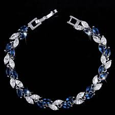 white gold leaf bracelet images On sale sapphire marquise leaf swiss cz diamonds tennis bracelet png