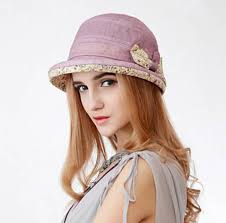 floral bow bucket hats for women cotton uv protection sun hat