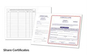 custom company share certificate printing online