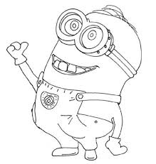 minion coloring despicable cute coloring pages