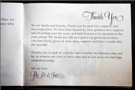 thank yous on wedding programs exles of thank you messages on wedding programs evgplc