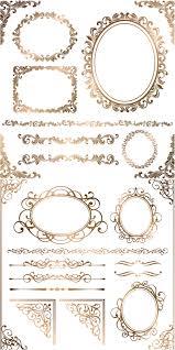 baroque floral frames corners and borders vector proyectos que