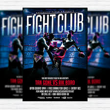 fight club u2013 premium flyer template facebook cover