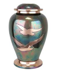 cremation urn going home raku brass cremation urn in the light urns