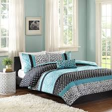 Black White Turquoise Teal Blue by Amazon Com Mi Zone Chloe Comforter Set Full Queen Teal Home