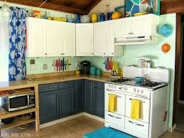 Red And Teal Kitchen by Nine Red Painting The Kitchen Cabinets Part 2