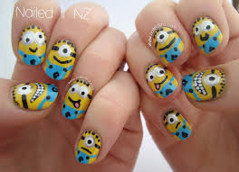 nailed it nz despicable me nail art u0026 tutorial