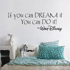 quote dream it you can do it words home decor wall sticker