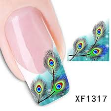 amazon com 3d nail art tips stickers false nail design manicure